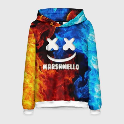 Мужская толстовка 3D Marshmello Fire