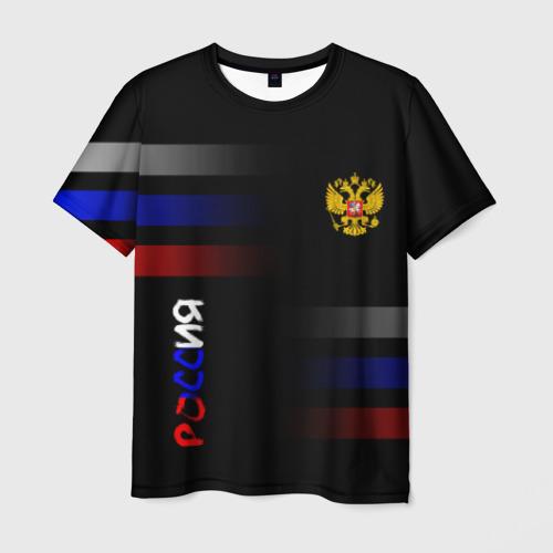 Мужская футболка 3D Россия Флаг