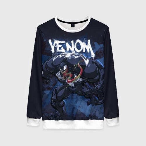 Женский свитшот 3D Venom comics