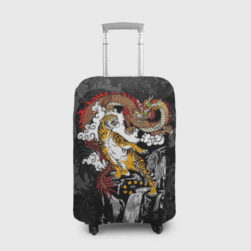 Чехол для чемодана 3D Тигр и дракон
