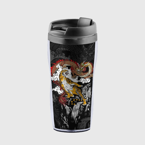 Термокружка-непроливайка Тигр и дракон
