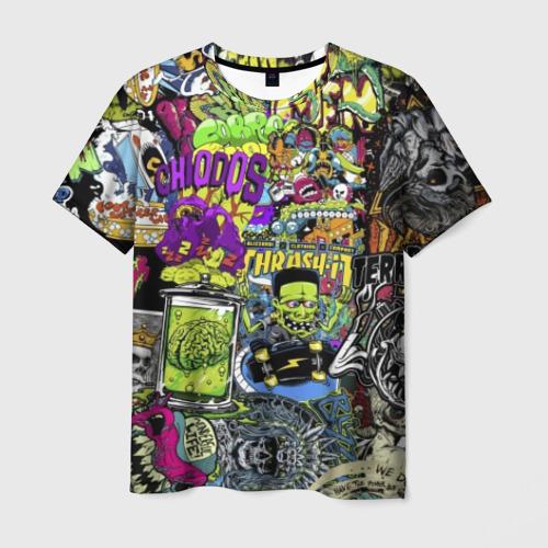 Мужская футболка 3D Stickerbombing Horrors