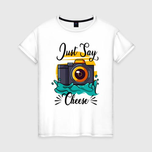 Женская футболка хлопок Фотограф