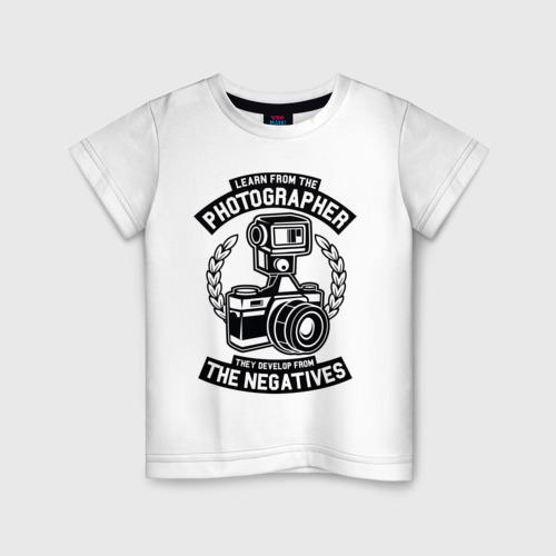 Детская футболка хлопок PHOTOGRAPHER