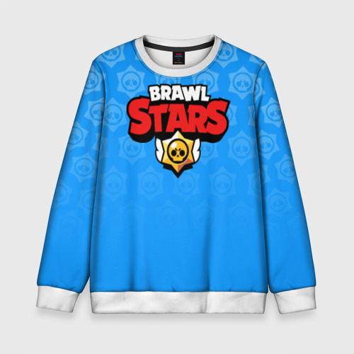 Детский свитшот 3D BRAWL STARS | БРАВЛ СТАРС BLUE