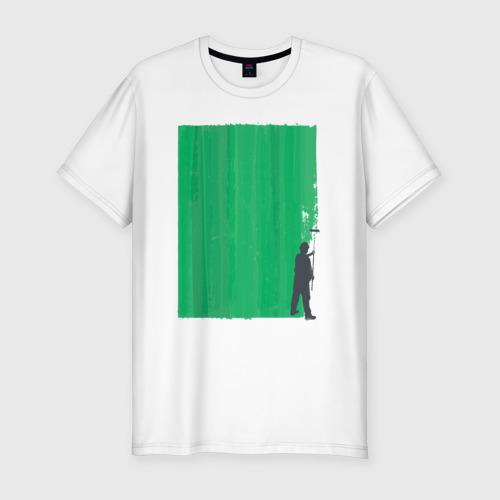 Мужская футболка хлопок Slim Маляр