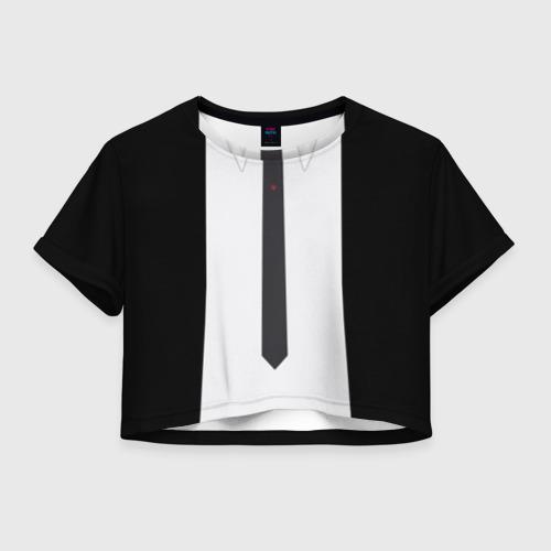 Женская футболка Crop-top 3D Костюм Джона Уика