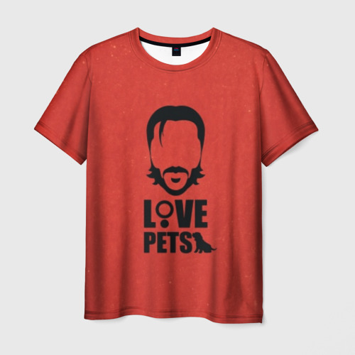 Мужская футболка 3D Love pets