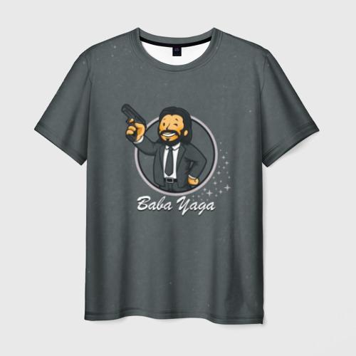 Мужская футболка 3D Baba Yaga