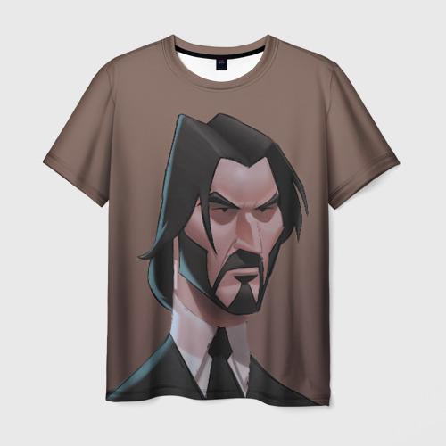 Мужская футболка 3D Фортнайт Уик