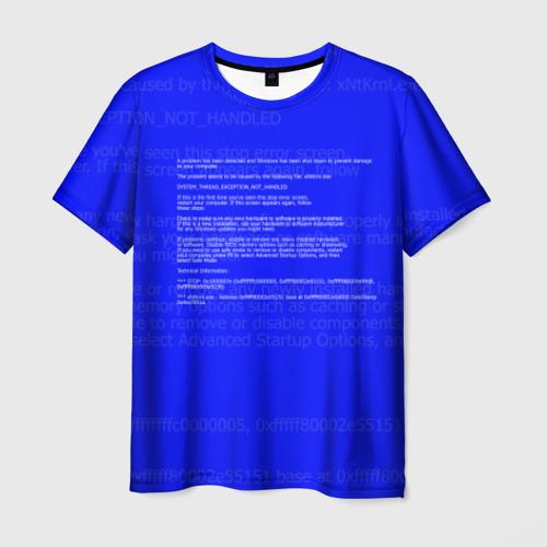 Мужская футболка 3D СИНИЙ ЭКРАН СМЕРТИ