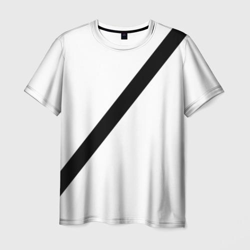 Мужская футболка 3D Пристегнутый ремень