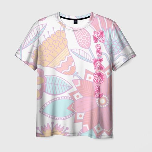Мужская футболка 3D Nikol Flowers