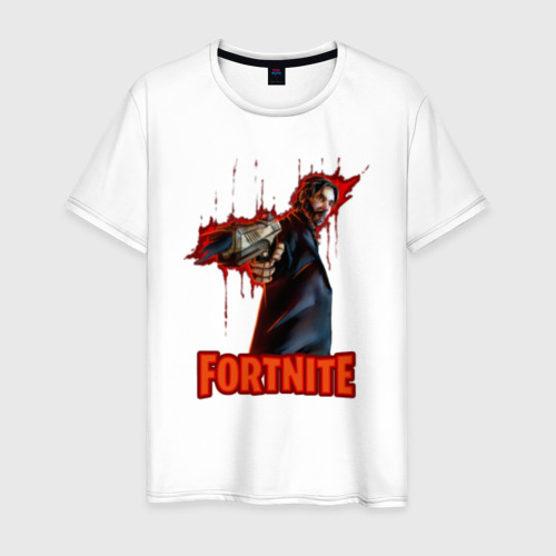 Мужская футболка хлопок John Wick Fortnite