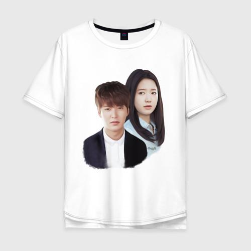 Мужская футболка хлопок Oversize Kim Tan and Cha Eun Sang