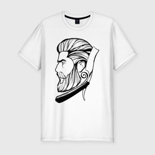 Мужская футболка хлопок Slim Барбер