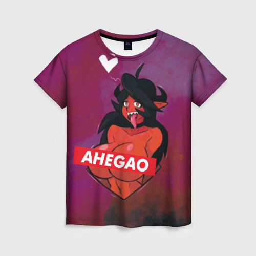 Женская футболка 3D Demon Ahegao