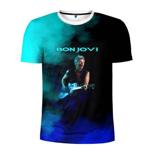 Мужская футболка 3D спортивная Bon Jovi