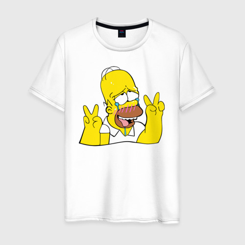 Мужская футболка хлопок Homer Ahegao