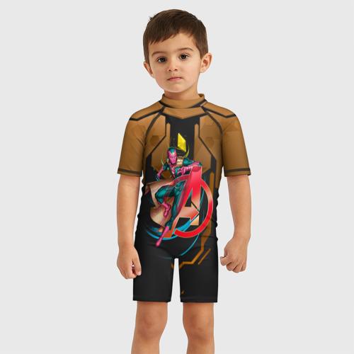 Детский купальный костюм 3D Вижен