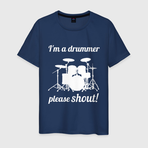 Мужская футболка хлопок Я барабанщик, так что кричите!