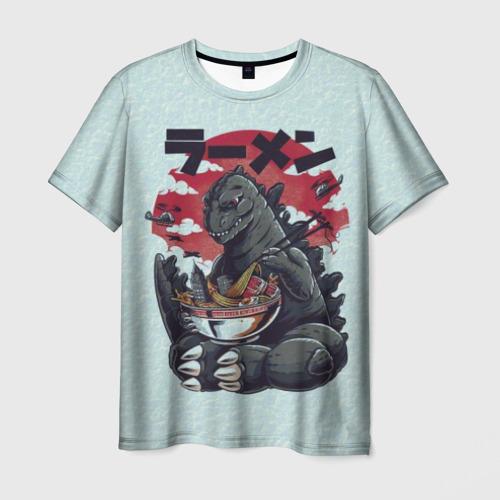 Мужская футболка 3D Blue Godzilla