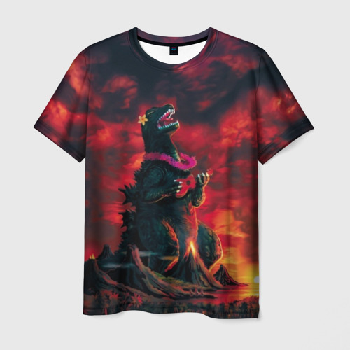 Мужская футболка 3D Укулеле