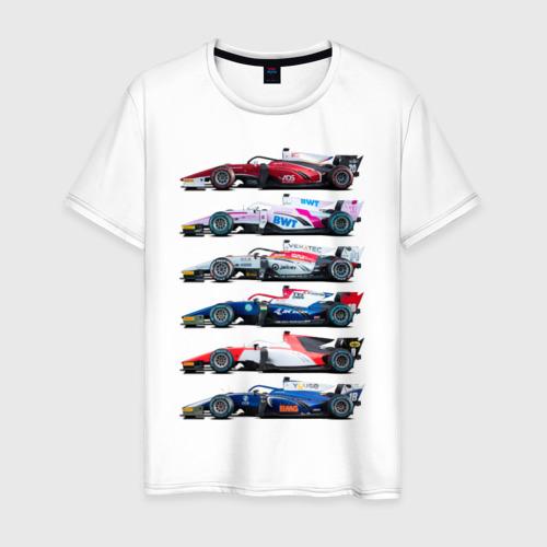 Мужская футболка хлопок F1 Болиды 2