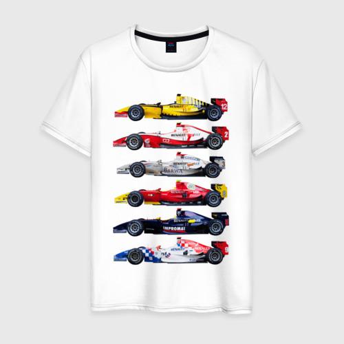 Мужская футболка хлопок F1 Болиды 3
