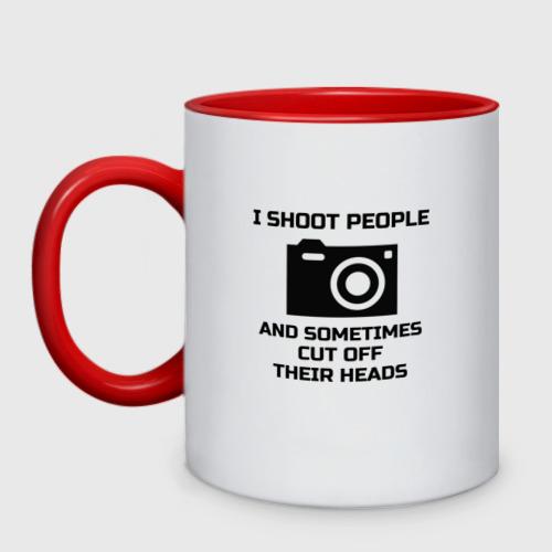 Кружка двухцветная Добрый фотограф