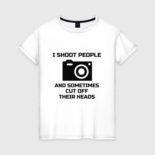 Женская футболка хлопок Добрый фотограф