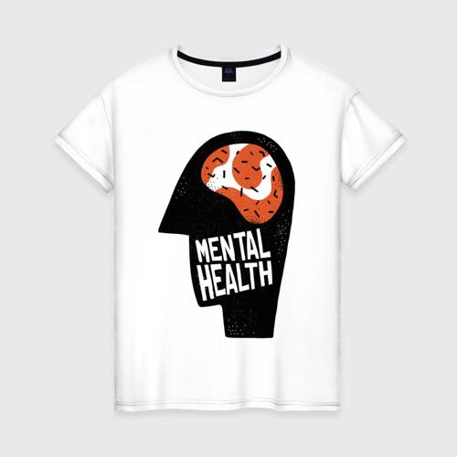 Женская футболка хлопок Душевное Здоровье