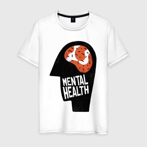 Мужская футболка хлопок Душевное Здоровье