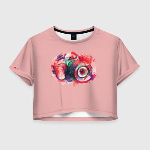 Женская футболка Crop-top 3D Я Фотограф