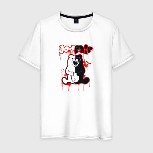 Мужская футболка хлопок MONOKUMA DESPAIR | МОНОКУМА