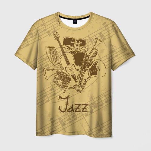 Мужская футболка 3D Jazz