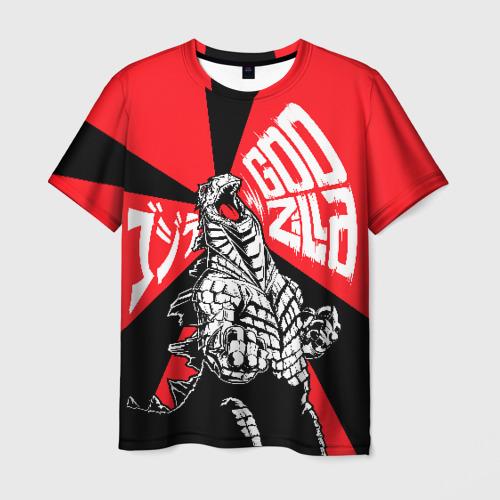 Мужская футболка 3D Godzilla (JAPAN)