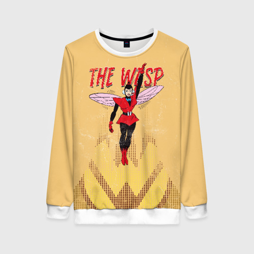 Женский свитшот 3D The Wasp retro comics