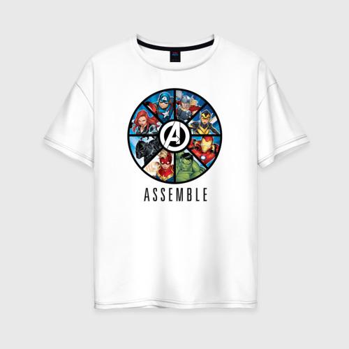 Женская футболка хлопок Oversize Avengers assemble