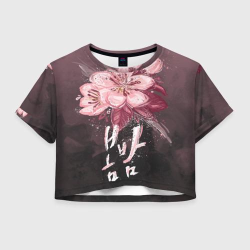 Женская футболка Crop-top 3D Spring Night
