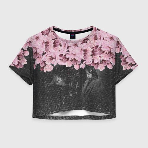 Женская футболка Crop-top 3D One Spring Night