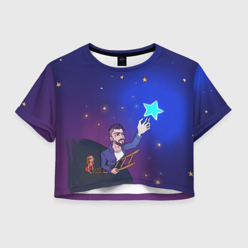 "Женская футболка Crop-top 3D JONY \""Звезда\"""