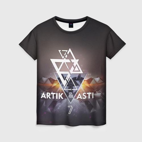 Женская футболка 3D ARTIK & ASTI 7