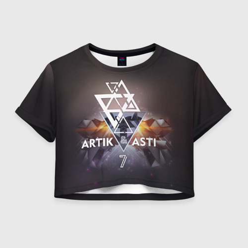 Женская футболка Crop-top 3D ARTIK & ASTI 7