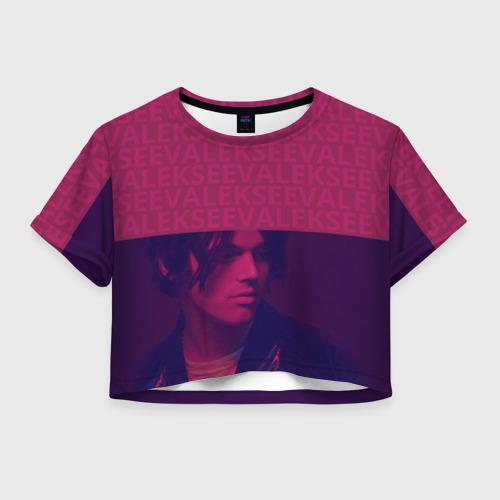 Женская футболка Crop-top 3D Алексеев