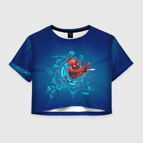 Женская футболка Crop-top 3D Spider-man through time