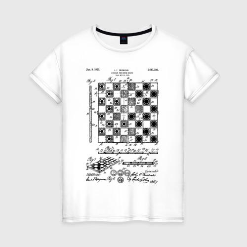 Женская футболка хлопок Patent - Chess board