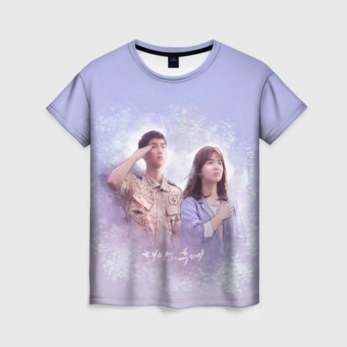 Женская футболка 3D Потомки солнца