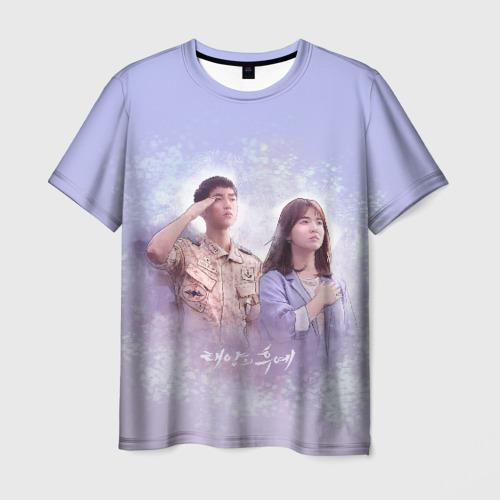 Мужская футболка 3D Потомки солнца