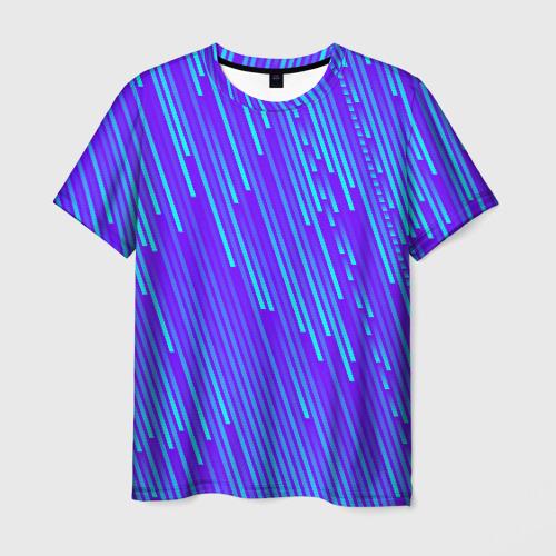 Мужская футболка 3D Неоновые Линии